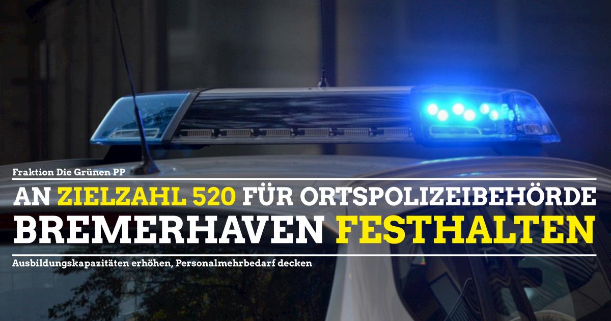 An Zielzahlen für Bremerhavens Polizei festhalten