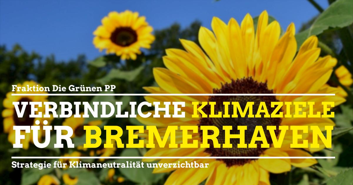 Klimaschutz in Bremerhaven: Es fehlt die langfristige Strategie!