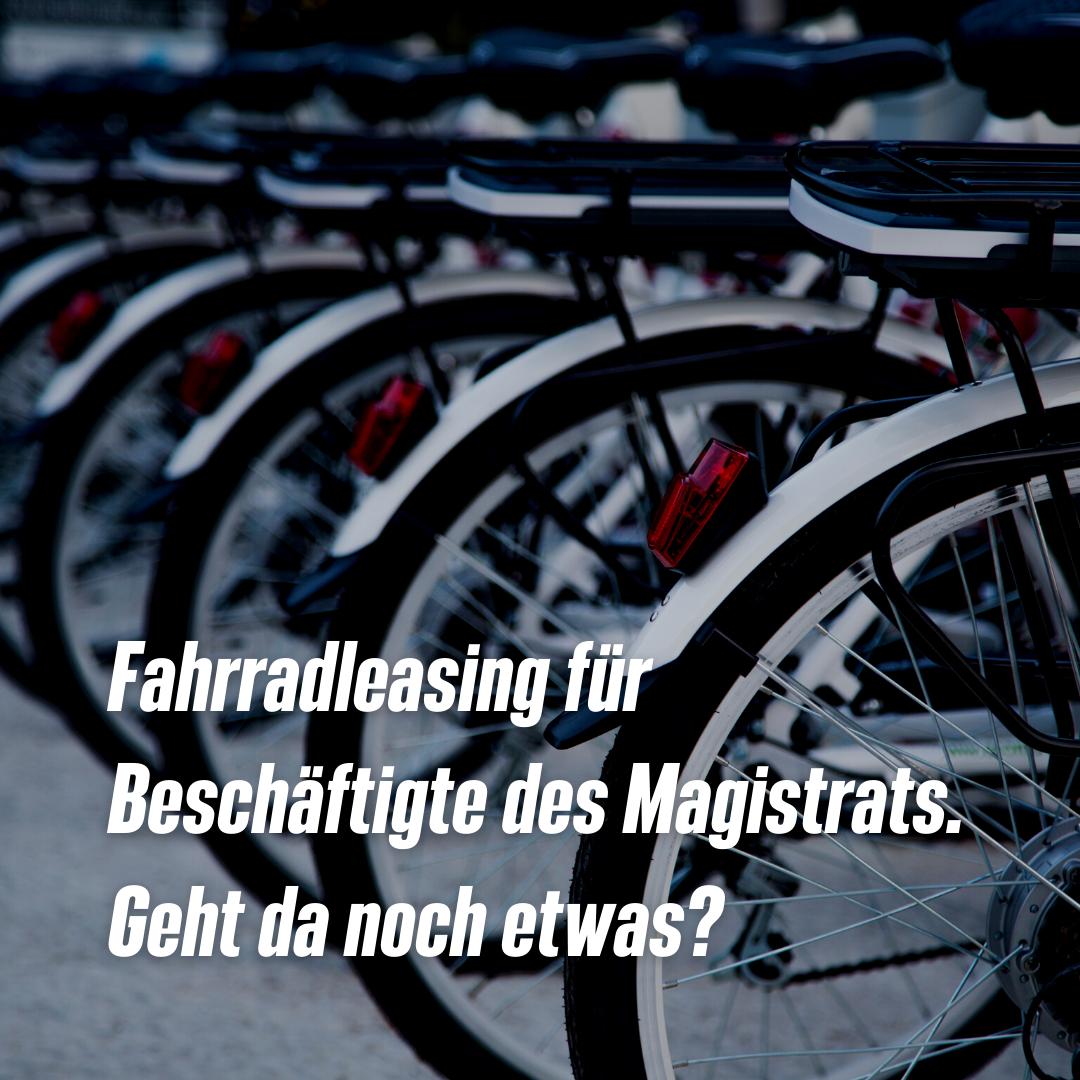 GRÜNE PP: Fahrradleasing für Beschäftigte des Magistrats. Geht da noch etwas?