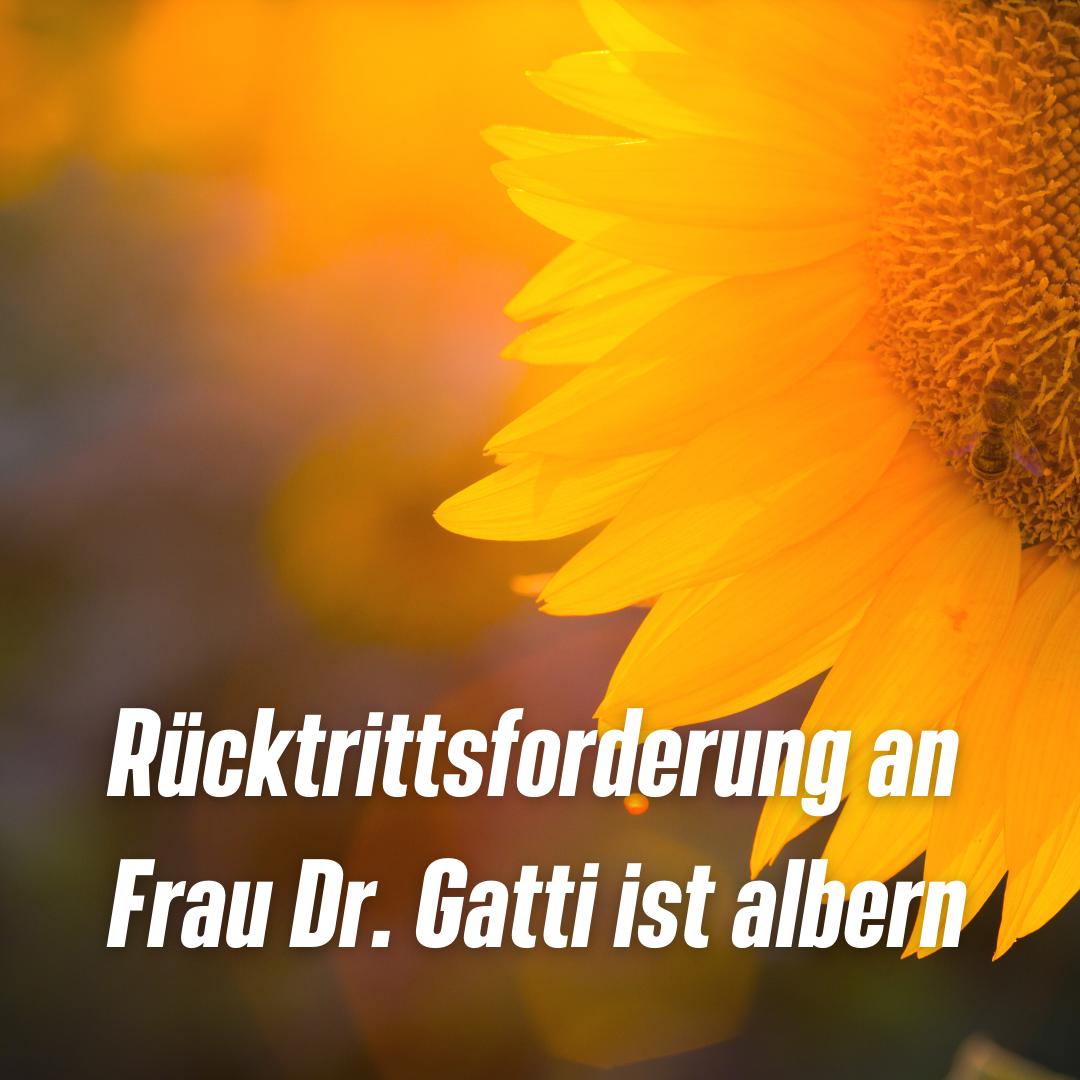 DIE GRÜNEN PP: Rücktrittsforderung an Frau Dr. Gatti ist albern